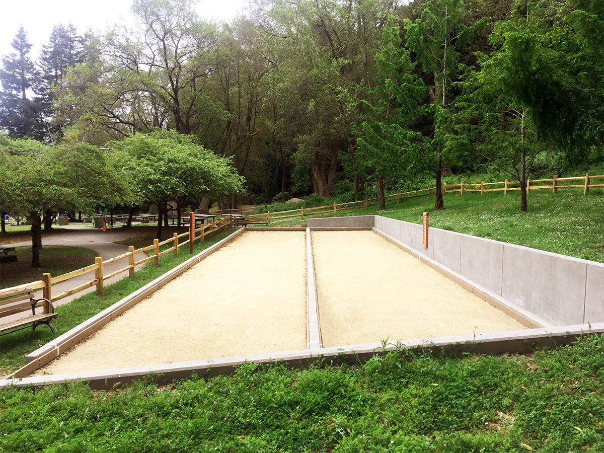 Harvey West Park bocce courts