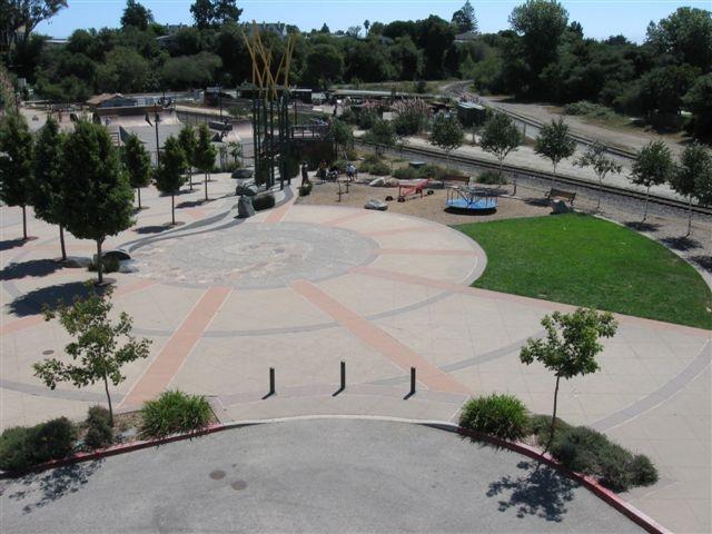 An Ariel View Of Depot Plaza
