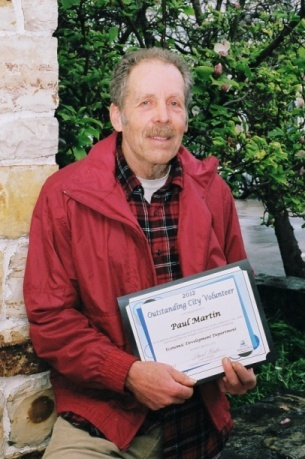 2012 City Volunteer Awardee PAUL MARTIN