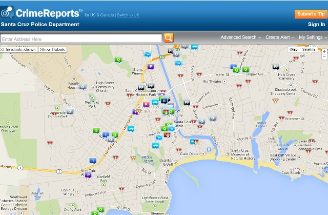 santa cruz police report Crime Maps   City of Santa Cruz