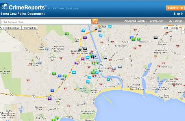crime maps city of santa cruz