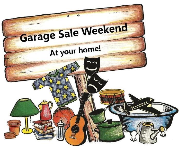 garage sale week end graphic