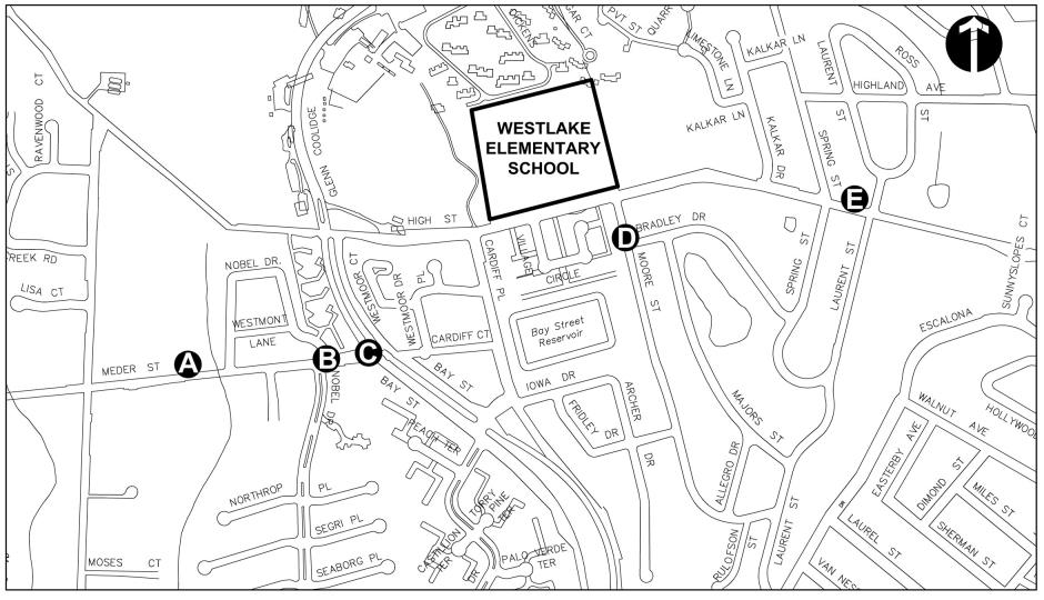 Westlake SRTS location map