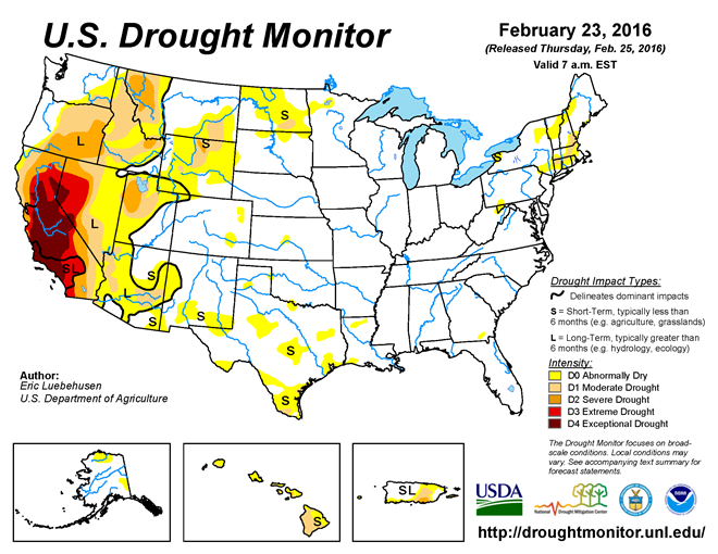 US Drought monitor 12-30-14