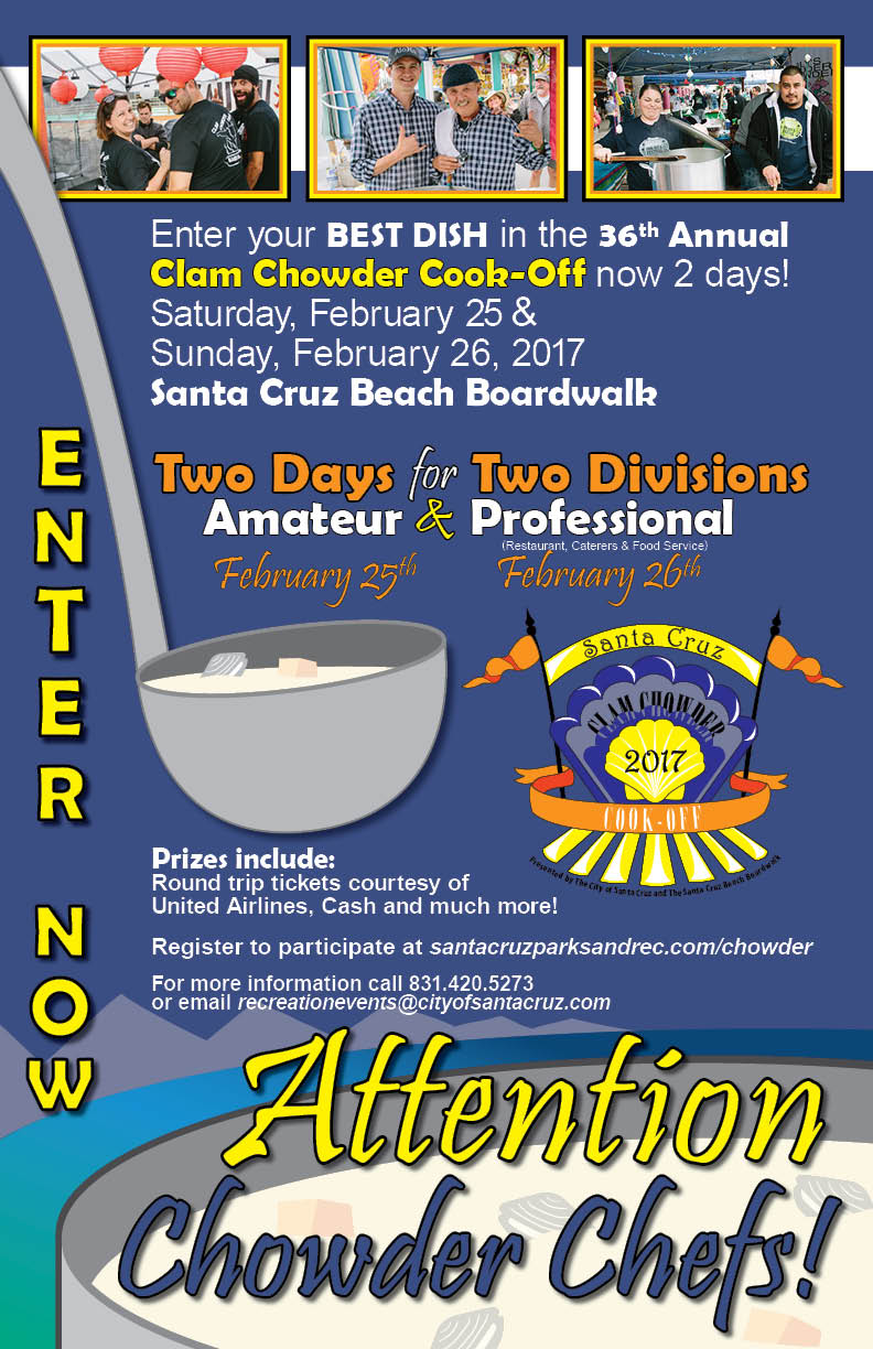 Clam Chowder Registration info 2017