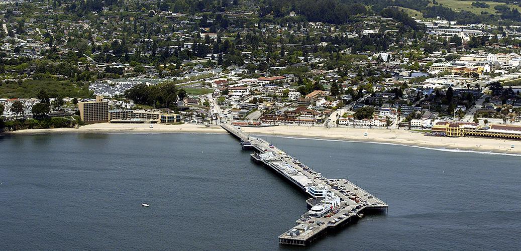 Aerial View Of Cowellain Beaches Main Beach 108 St Santa Cruz Ca 95060 Cowell