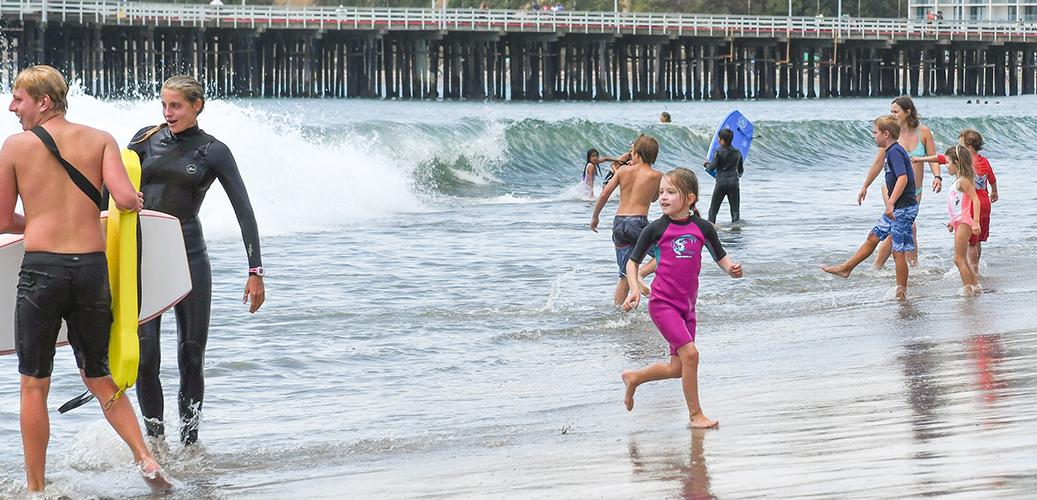 Kids Playing On Main Beach