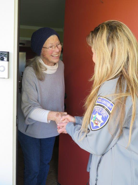 SCPD Volunteer greeting a YANA participant