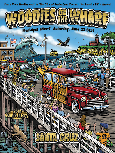 25th Woodies on the Wharf poster