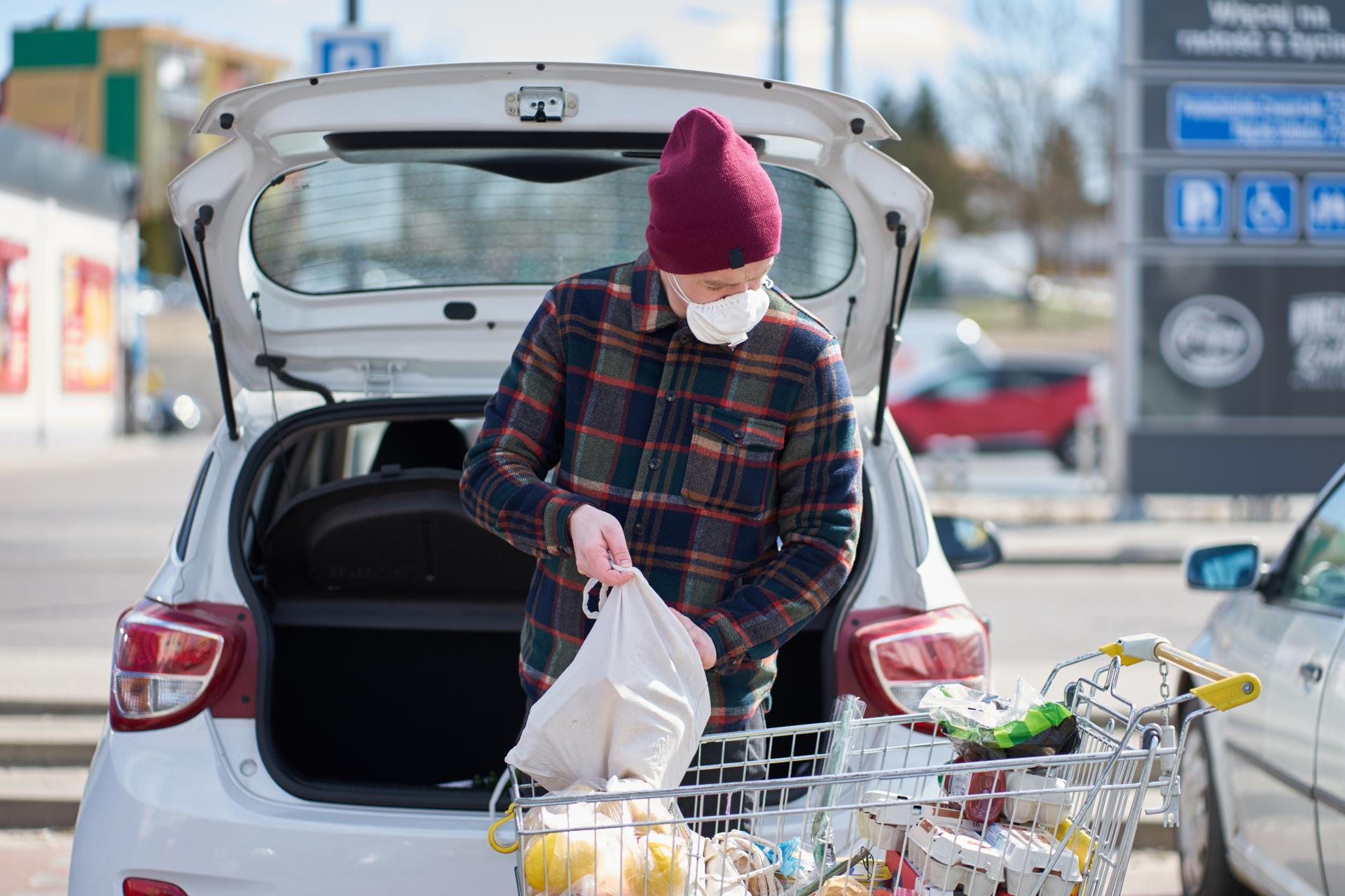 Self Load Groceries to car