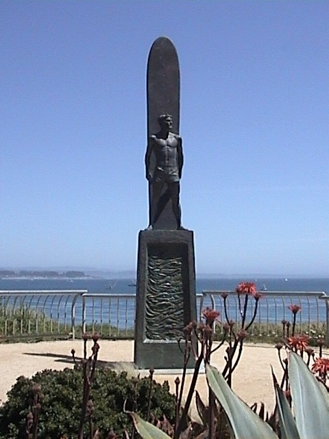 The Iconic Santa Cruz Surfer Statue on West Cliff Drive