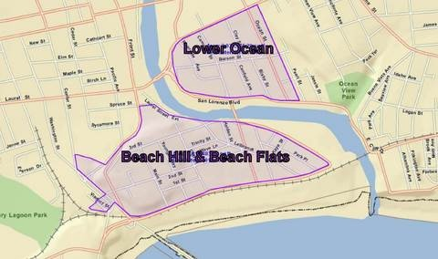 Beach Area Including Hill Flats And Portions Of Lower Ocean Neighborhoods