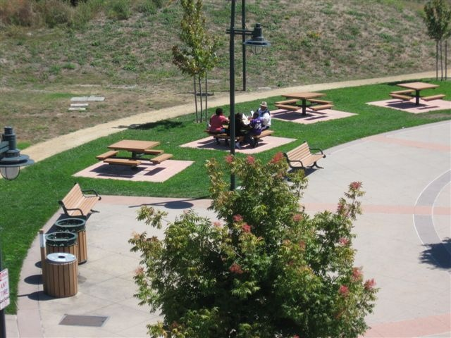 The picnic areas of Depot Park