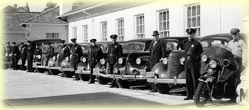 Police Dept - old cars